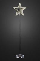 Hellum LED-Infinity-Stern m.Standfuß 75cm 42 BS warmweiß innen batteriebetrieben
