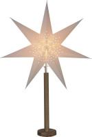 STAR Trading Papierstern Elice 60cm creme/eiche innen
