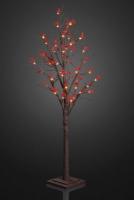 Hellum LED-Baum mit roten Beeren 50cm 24 BS warmweiß/braun innen