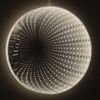 Hellum LED-Infinity-Spiegel z.Hängen 20cm 33 BS warmweiß innen