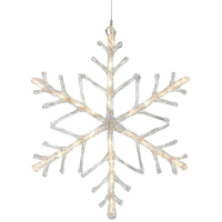 LED-Schneeflocke 24 warmweiße LEDs