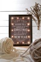 LED-Bild Wishing you a Merry Christmas... 14 BS warmw. Inn