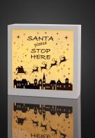 Hellum LED-Stimmungsbild Santa pleas stop here