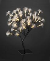 Hellum LED-Baum Fiberoptik 45cm 40 BS warmweiß/braun innen