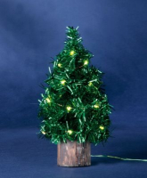 Hellum LED-Baum 20cm 20 BS grün/grün innen batteriebetrieben
