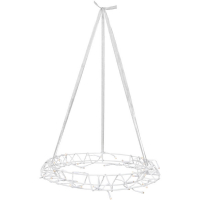 V-R LED-Kranz 40 warmweiße LEDs Metall