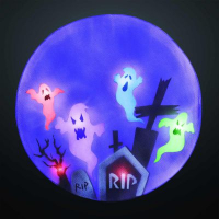 LED-Bild Gespenster auf Friedhof 6 BS