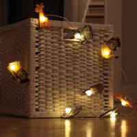 LED-Lichterkette Zoolight wilde Tiere 8 BS ww/transp.