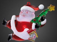 LED-Weihnachtsmann Baum/Vogelhaus 1 BS RGB innen