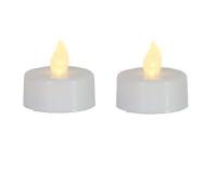 STAR Trading LED-Teelicht 2er Set weiß gelb/flackernd innen