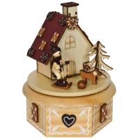 Spieluhr und Räucherhaus
