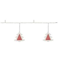 Hellum LED-Minilichterkette Tannenbäume mit 8 warmweißen LEDs batteriebetrieben