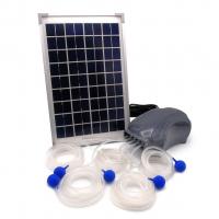 Ubbink AIR SOLAR 600 - Belüftungspumpe, 5x Luftschlauch 3m, 5x Belüfterstein, inkl. Ersatzmembran, Solarpaneel, 10W - 600 l/h
