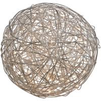 Drahtball mit LED Ø 40cm, 100 warmweiße LEDs