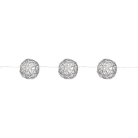 Mark Slöjd LED-Minilichterkette mit 20 warmweißen LEDs Metalldrahtbälle silber batteriebetrieben