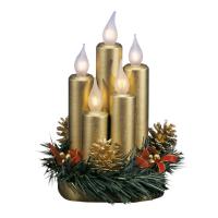 Tischdekoration Kerzen gold