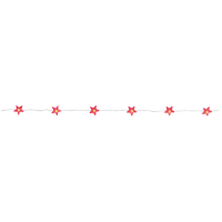 LED-Minilichterkette Sterne mit 20 roten LEDs batteriebetrieben