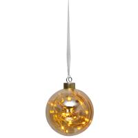 LED-Glaskugel, 15 warmweiße LEDs, GLOW
