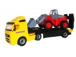 VOLVO LKW-Tieflader mit Traktor-Lader