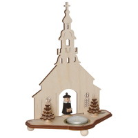 Saico Teelichthalter Seiffener Kirche Holz