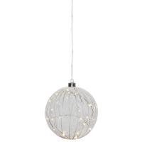 LED-Glaskugel, 20 warmweiße LEDs, Ø 18 cm