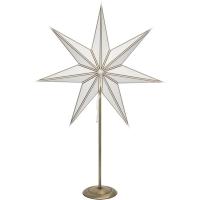 Star Trading Weihnachtsstern Nicolas weiß-gold