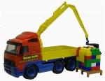 PowerTruck Kranwagen mit Baustein-Mix auf Palette