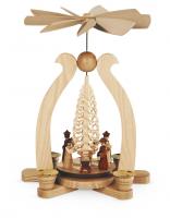 Bogenpyramide Christi Geburt 1-Stöckig, Natur, 22x15x29cm