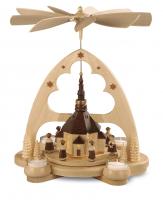 Müller-Kleinkunst aus dem Erzgebirge® seit 1899 Bogenpyramide Seiffener Kirche, natur