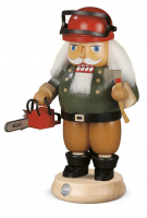 Nussknacker Waldarbeiter Mit Motorsäge, 14x23cm