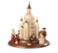 Motivplattform für Elektr. Spieldosen Historische Figuren An Der Frauenkirche, 15cm