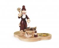 Müller-Kleinkunst aus dem Erzgebirge Kerzenhalter Weihnachtsmann mit Gabenschlitten